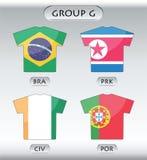 krajów g grupowe ikony ilustracja wektor