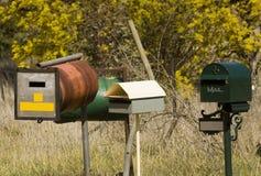 krajów letterboxes Zdjęcia Stock