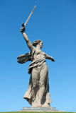 Krajów ojczystych wezwania w Mamayev Kurgan Obrazy Royalty Free