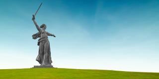 Krajów ojczystych wezwania w Mamayev Kurgan w Volgograd, Rosja Obraz Royalty Free