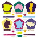 krajów różny wina świat ilustracji