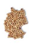 Krajów winemakers - mapy od wino korków Mapa Niemcy na w Fotografia Royalty Free