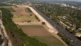 Kraj autostrady antena zdjęcie wideo