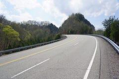 Kraj autostrady Halna droga Zdjęcie Stock