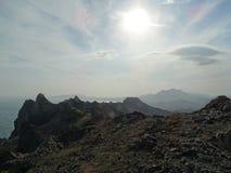 Kraj błękitne góry zdjęcie stock