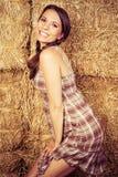 kraj dziewczyny się uśmiecha Zdjęcia Royalty Free