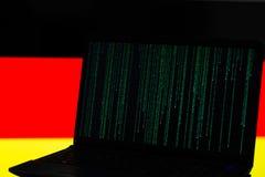 Kraj flaga i cyber szturmowy pojęcie fotografia royalty free