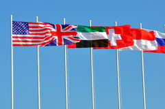 kraj flaga wiosłują różnorodnego Zdjęcia Stock
