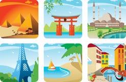 kraj ikona sześć ilustracja wektor