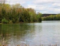 Kraj jezioro Fotografia Royalty Free