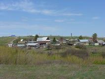 Kraj nieruchomość w wiosce Pechersk Samara region Obrazy Stock