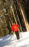 kraj przecinająca narciarka Fotografia Royalty Free