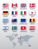 kraj różnych flag Zdjęcia Stock