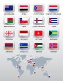 kraj różnych flag ilustracji