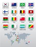 kraj różnych flag Fotografia Stock