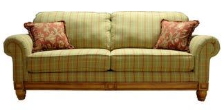 kraj szkockiej kraty sofa Fotografia Stock
