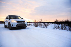 Kraj zimy droga Obraz Stock