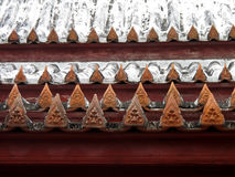 Krajang-на тайской крыше-wat Yai Suwannaram Стоковое Фото