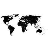 kraje kartografują prostego świat Obrazy Stock