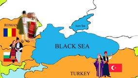 Kraje na Czarnym Dennym wybrzeżu royalty ilustracja