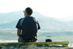 krajobrazów mężczyzna przegląd obraz stock