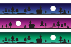 Krajobrazów zamarznięci kolory 3 ilustracji