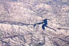 Krajobraz śnieżne góry w Japonia blisko Tokio Zdjęcia Stock