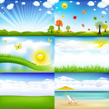 krajobraz ilustracji