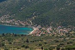 Krajobraz Agia Effimia miasteczko, Kefalonia, Ionian wyspy, Grecja Zdjęcia Stock