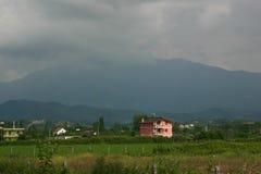 Krajobraz Albańska wieś zdjęcia royalty free