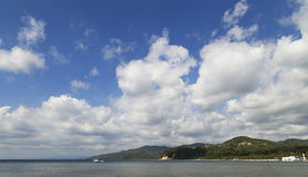 Krajobraz Anilao zatoka Obrazy Stock