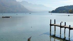 Krajobraz Annecy jezioro w Francja zbiory