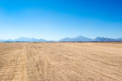 Krajobraz Arabska pustynia Zdjęcia Stock