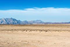 Krajobraz Arabska pustynia Zdjęcie Stock