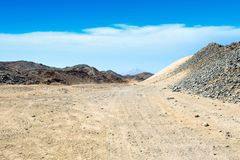 Krajobraz Arabska pustynia Obrazy Stock