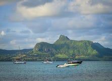 Krajobraz błękit zatoka, Mauritius Zdjęcia Royalty Free