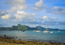 Krajobraz błękit zatoka, Mauritius Obrazy Stock