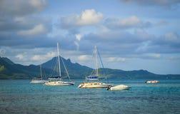 Krajobraz błękit zatoka, Mauritius Zdjęcie Royalty Free