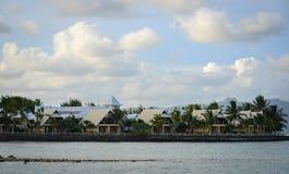 Krajobraz błękit zatoka, Mauritius Obrazy Royalty Free