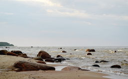 Krajobraz Bałtycki nadmorski, Roja, Latvia Zdjęcia Stock