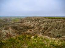 Krajobraz badlands park narodowy fotografia stock