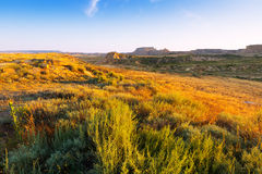 Krajobraz bardenas reales naturalny park Fotografia Stock