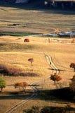 Krajobraz Bashang obszary trawiaści fotografia stock