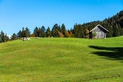 Krajobraz blisko Garmisch Partenkirchen w Bavaria, Niemcy obrazy stock