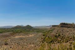 Krajobraz blisko Naivasha jeziora w Afryka Zdjęcia Stock