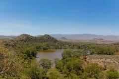 Krajobraz blisko Naivasha jeziora w Afryka, Krater jezioro Fotografia Royalty Free