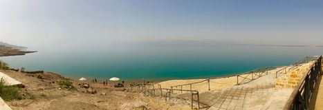 Krajobraz blisko Nieżywego morza w Jordania zdjęcie royalty free