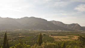 Krajobraz blisko Orba, Hiszpania Fotografia Royalty Free