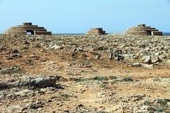 Krajobraz blisko Punta Nati latarni morskiej, Ciudadella, Minorca, Balea Obraz Royalty Free