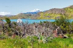 Krajobraz blisko rogów Góruję Paine, Patagonia, Chil Obrazy Royalty Free